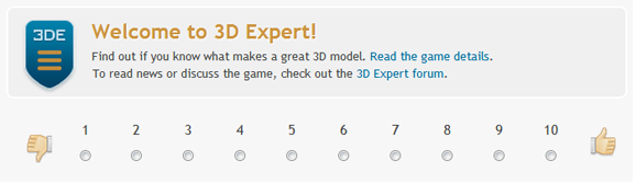 Play 3D Expert - The Model Rating Game by TurboSquid